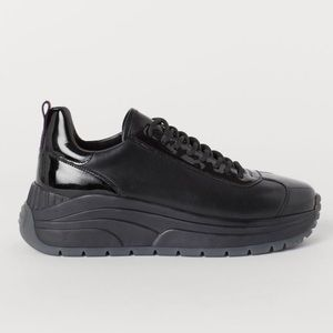 Eyty's x H&M Black Chunky Leather Sneakers